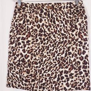 3/$25 Jones New York Leopard Pencil skirt sz 6